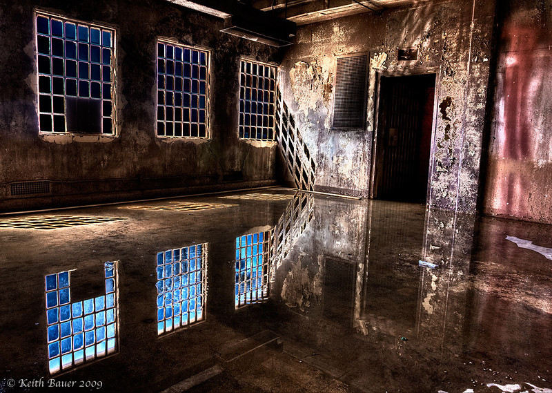 Reflections in a room - Abandoned NM Penitentiary