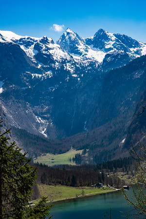 Looking towards the Obersee from Schrainbach Trail