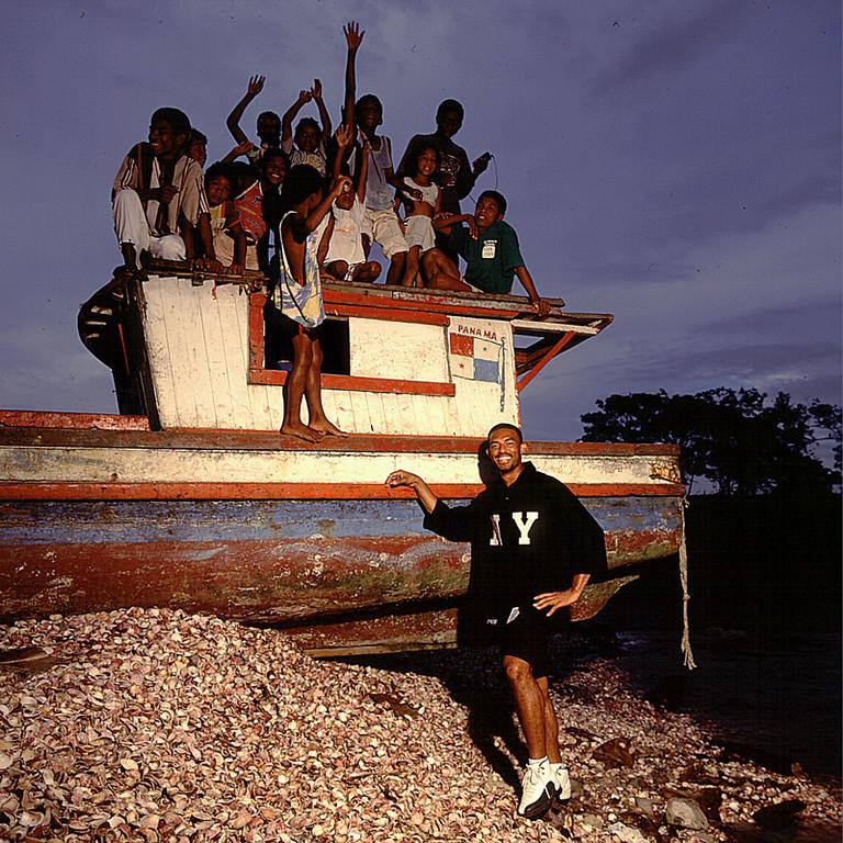 Mariano Rivera at home in Puerto Caimito Panamá