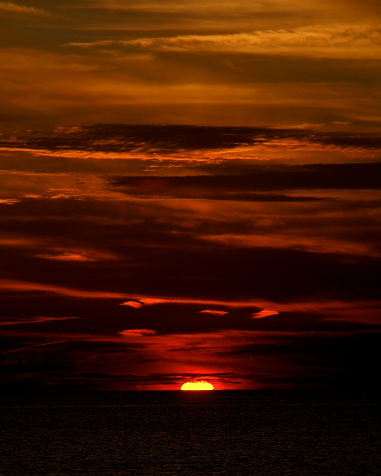 Sunset over Lake Erie, Ohio. 2008