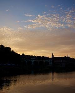 Sunset in Wurzburg, Germany, 2014.
