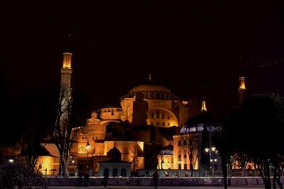 Hagia Sophia at night, Istanbul, Turkey. 2012