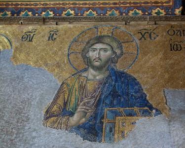 In the Hagia Sophia. Istanbul, Turkey. 2012