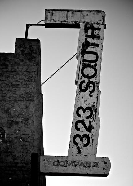 Street sign in Los Angeles.