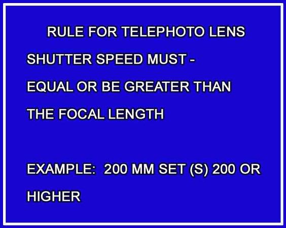 telephoto rule