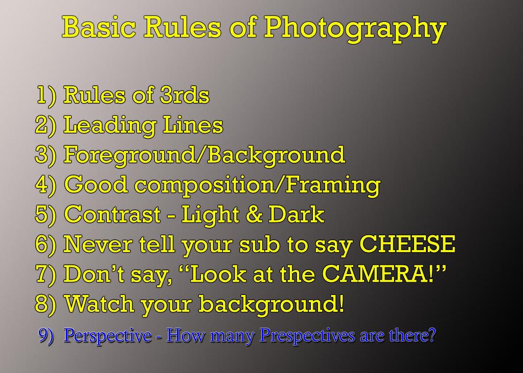 rules of photog