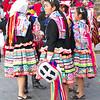 Girls in traditional Peruvian costumes. Cusco, Peru