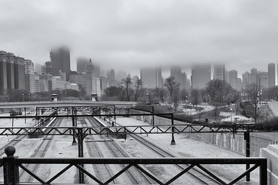 Chicago in the fog