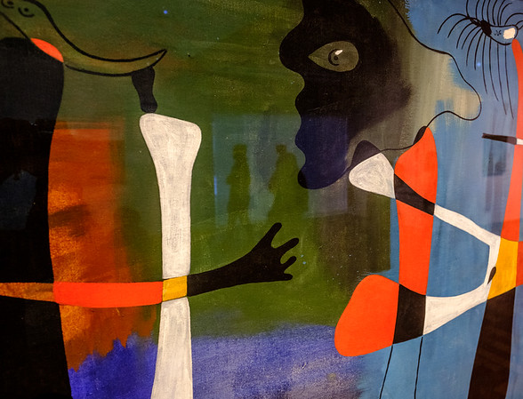The admired and the admirers – painting with light reflection- inspired by Master Joan Miró -Barcelona