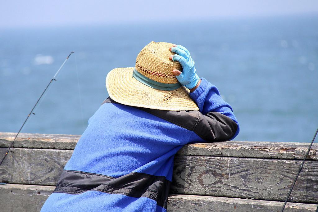 Fisherwoman, OB pier, June 2009