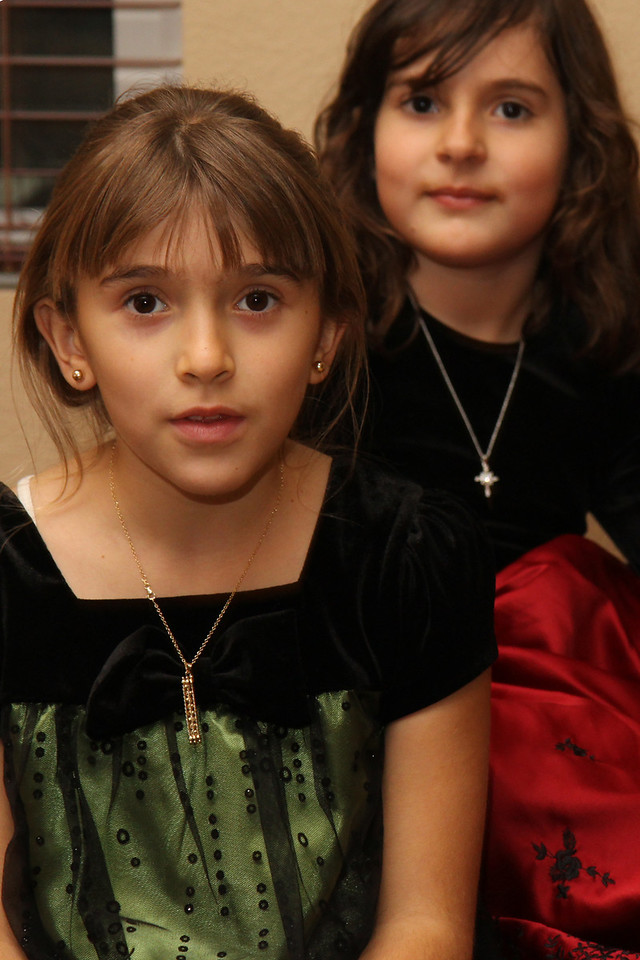 Christmas 2010, Bella and Jackie.