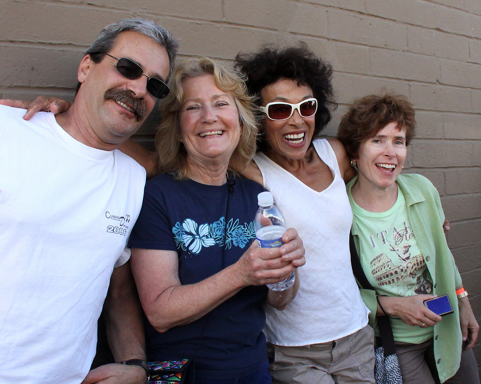 Great friends of mine- Rick, Linda Cathy, and Jeanne.  Ran into them at the OB Music Festival 2010