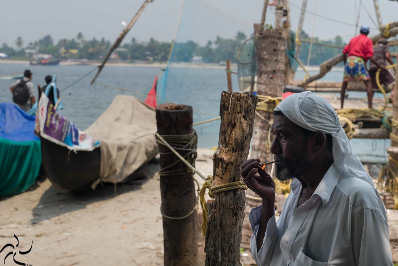Kerala - Fort Kochi - fisherman