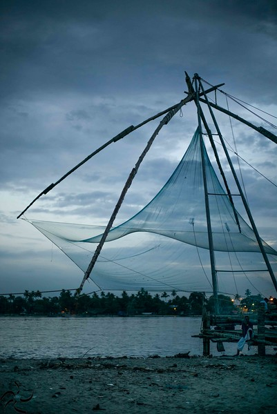 Kerala - Fort Kochi - Chineese fishnet