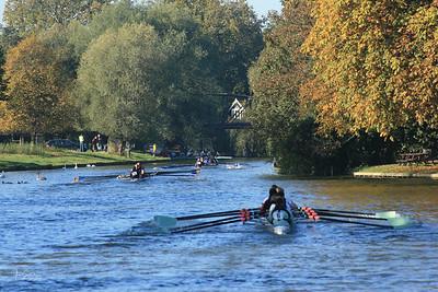 CULRC racing to the finish Cambridge Autumn Head