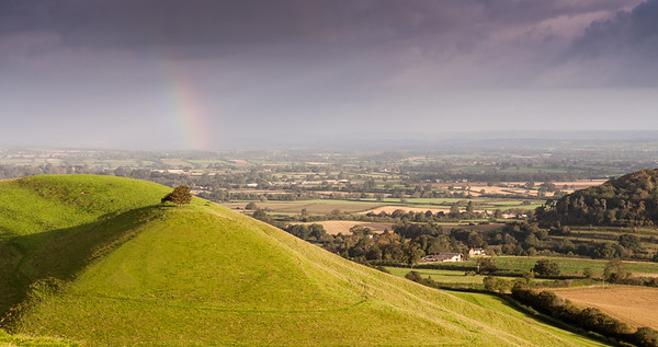 Rainbow over South Somerset