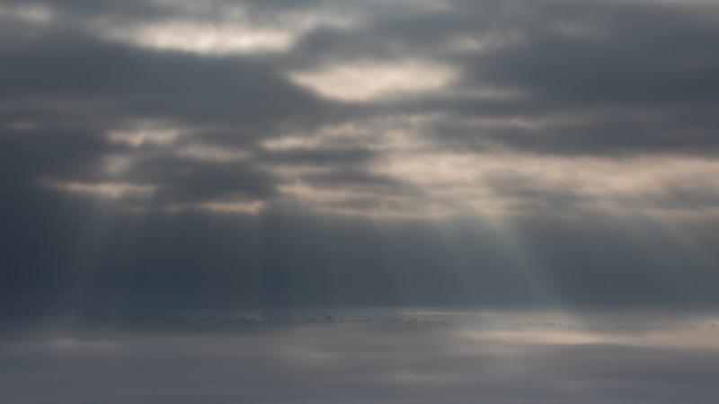 Crepuscular rays across the Somerset levels -1