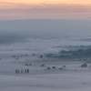 Sunrise over the Somerset Levels