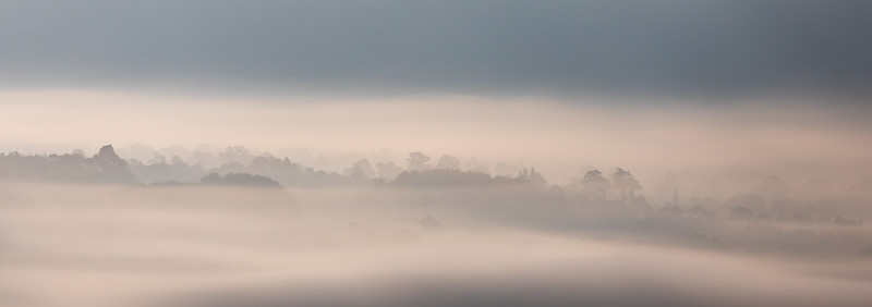 Swirling mist on the Somerset Levels