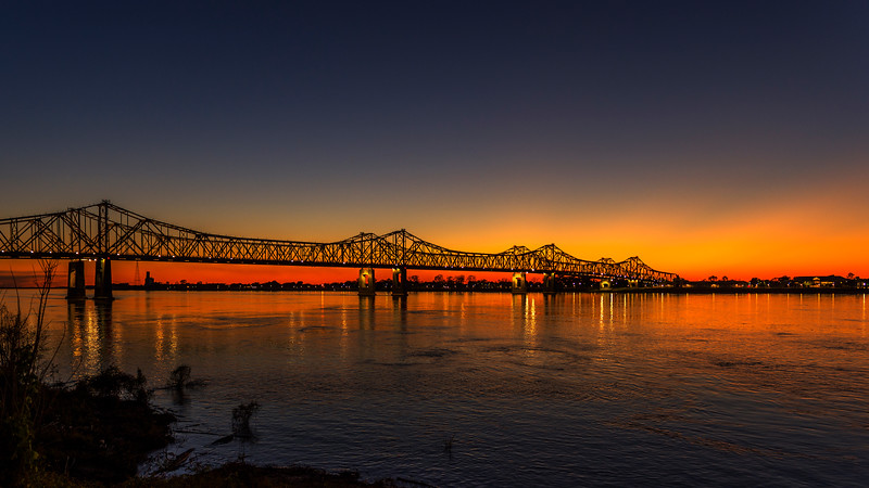 Sunset over the Mississippi