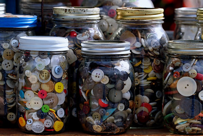 """Grandma's Button Jars"""