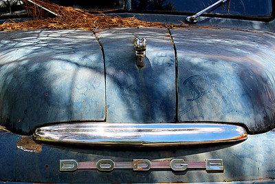 """Blue Weathered Dodge"""
