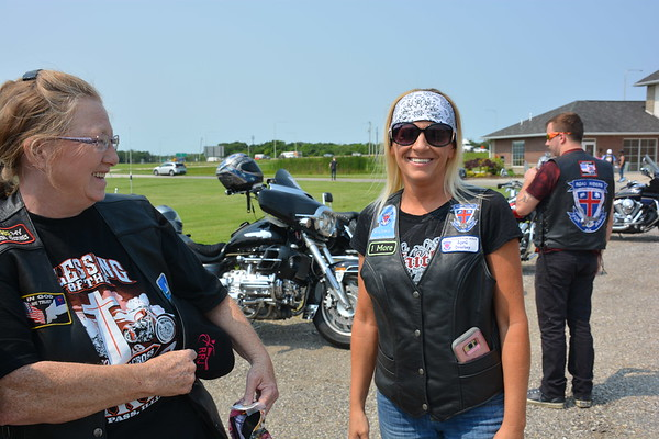 Shelly Bryson of Herrick and April Overbey of Oakland City, Indiana, are both members of Road Riders for Jesus.