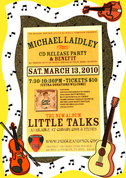 20100313 Michael Laidley CD Release0