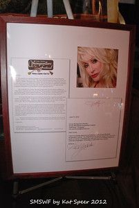 Smoky Mountains Songwriters Festival 2012 15 Letter from Dolly Parton