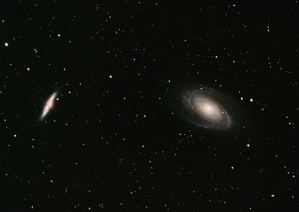 M81 (Bode-Galaxie) und M82 (Zigarren-Galaxie)
