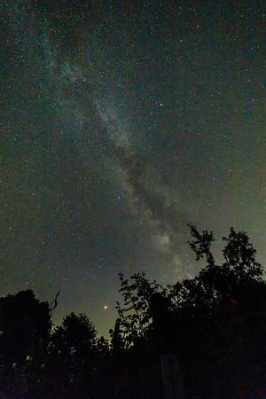 Milchstraße und Mars