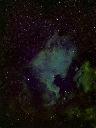 NGC 7000 Nordamerikanebel (Schmalband)