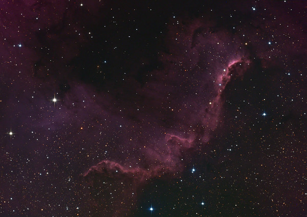 "NGC 7000 ""The big Wall"" (V4)"