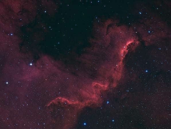 """NGC 7000 """"The big Wall"""" (V3)"""