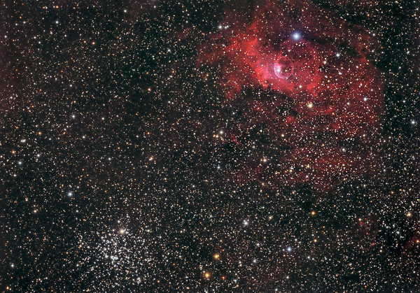 NGC 7635 Blasennebel und M52