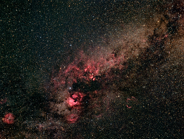 Nebelgebiete im Sternbild Schwan