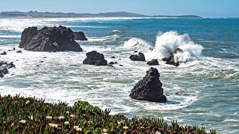 Waves at Bodega Bay, CA 1