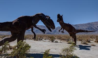 WF-4 1 Fighting Dinosaurs. The Allosaurus and Carnotaurus.
