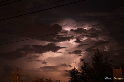 Thunderstorm above Chievres