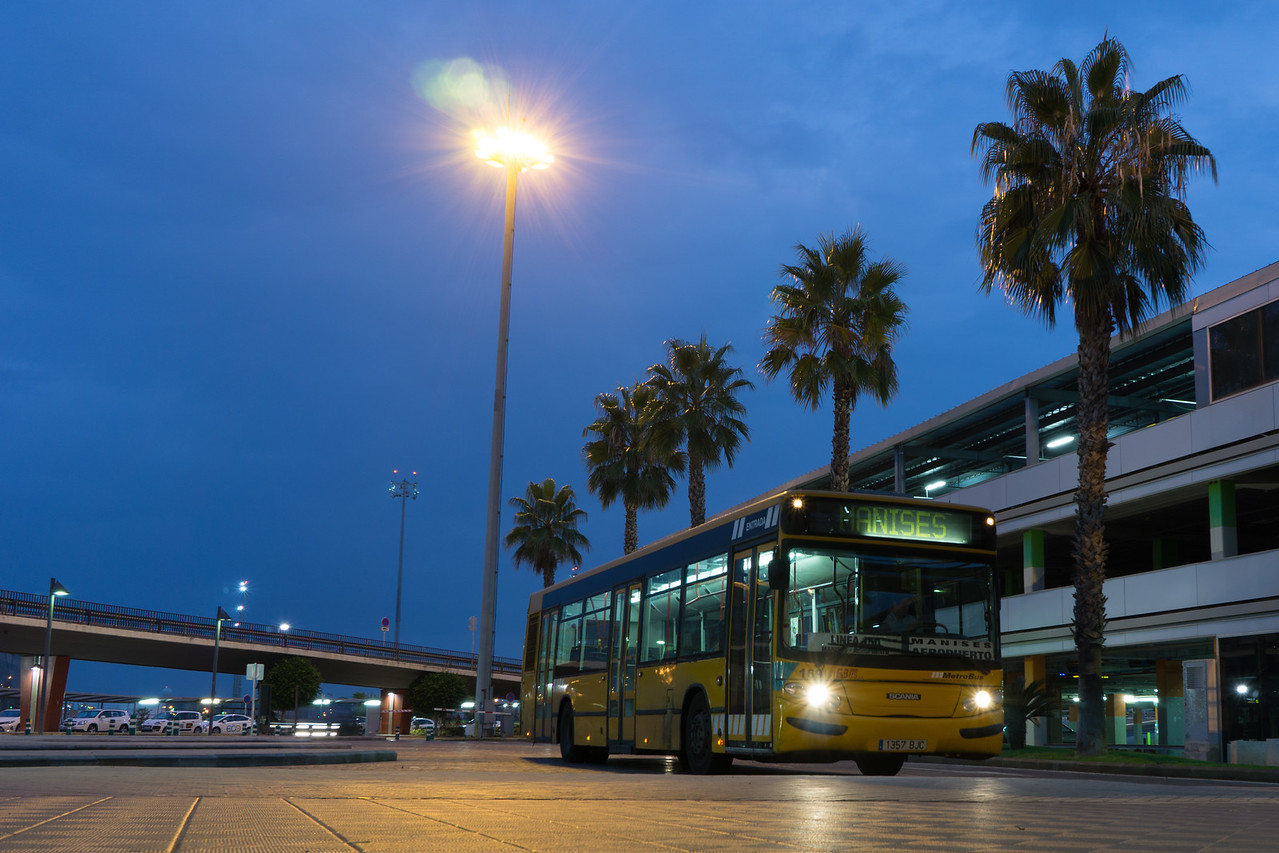 City Bus at the Airport in early morning.
