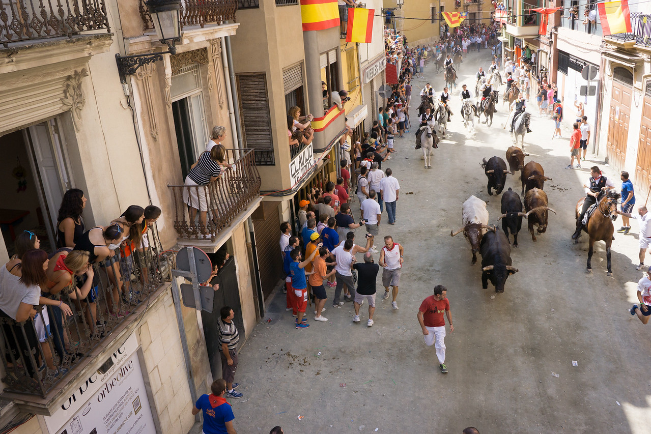 Sergorbe, Spain. Festival of Bulls and Horses in the province of Valencia, Spain.