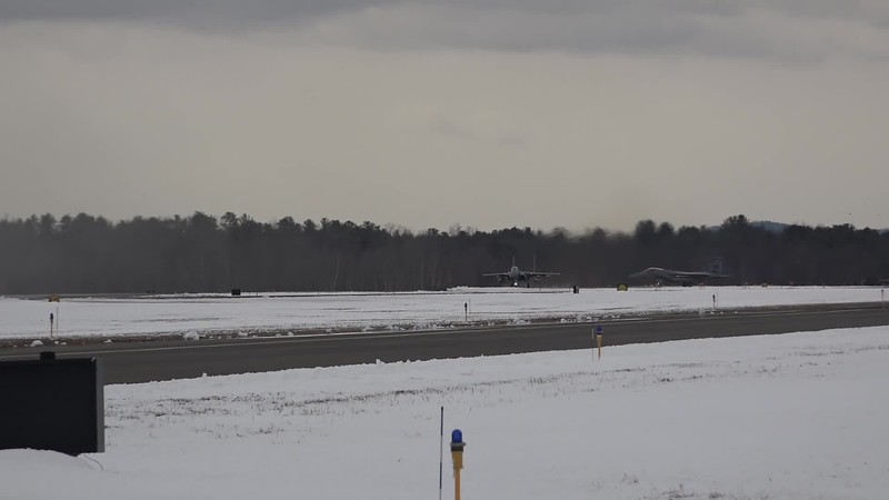 Clip0064   four F-15s departing   158 last with three drop tanks