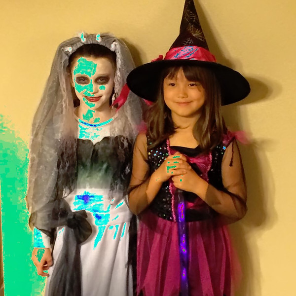 Tatum and Sophia - Halloween Oct 2015