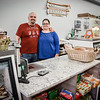 George and Valerie Georgoulopoulos man the counter at Sophia's Greek Pantry in Lowell. SUN/Caley McGuane