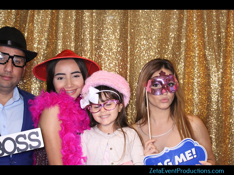 Sophia's Quinces photo booth pictures