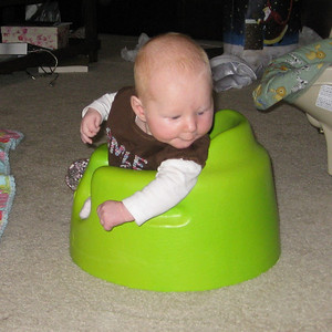 hanging out in the bumbo!