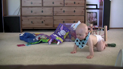 Back when Sophie was just barely learning to crawl