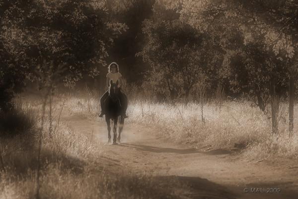 """12-10-2009<br /> <br /> """"Paseando a caballo""""<br /> <br /> """"Horse riding"""""""