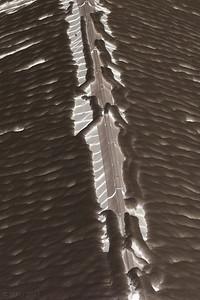 """29-1-2011  """"Efecto luminoso"""" - Es el tejado de un vecino cuando se empezaba a derretir la nieve. El único proceso que tiene es haberla convertido a negativo.  """"Luminous effect"""" - It's the roof of a neighbour when snow was starting to melt. Converting to negative is the only PP it has."""