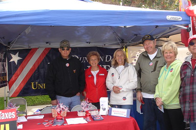 Our neighboring booths included Duncan Hunter's group who helped us set up our tent.
